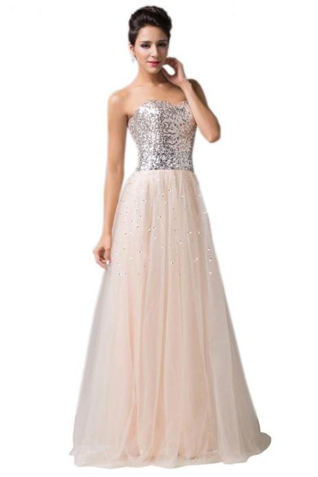2017 Sequin Beaded Tulle Bridesmaid Dresses