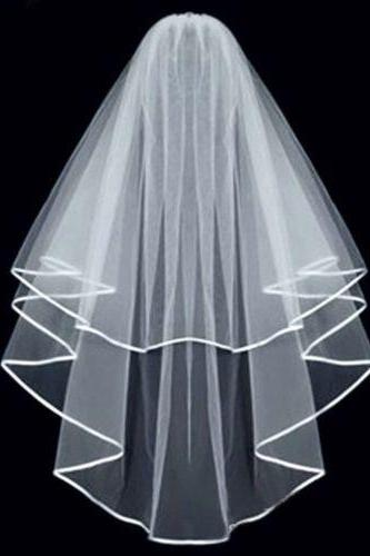 White/Ivory Bridal Accessories Wedding Veil Comb Veil